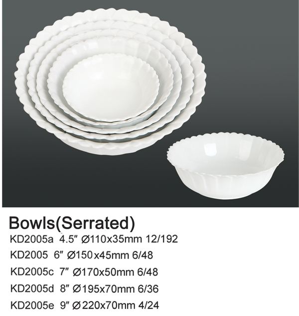 Bowls (Serrated)
